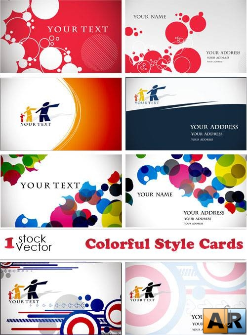 Colorful Style Cards Vector
