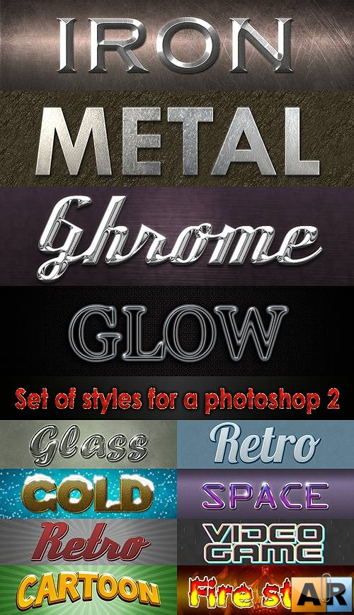 Set of styles for a photoshop 2