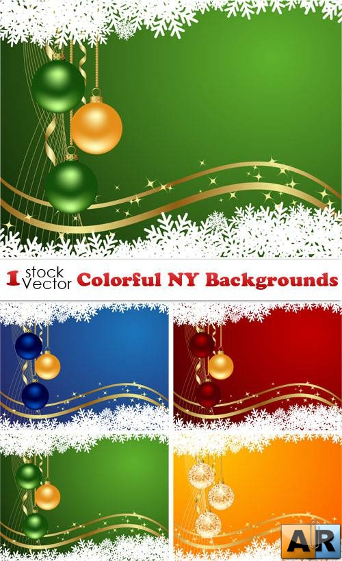 Colorful NY Backgrounds Vector