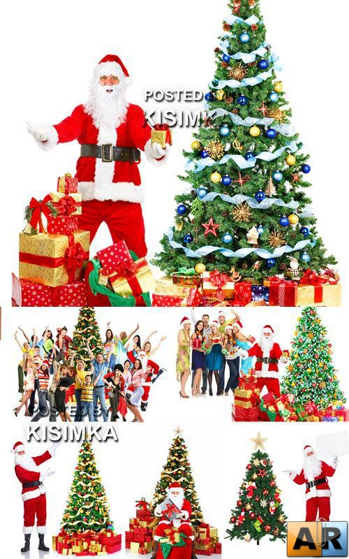 Stock Photo: Santa Claus and Christmas tree