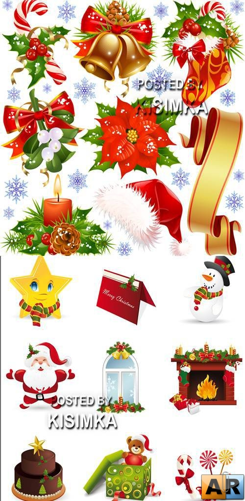 Stock: Christmas and New Year decorations