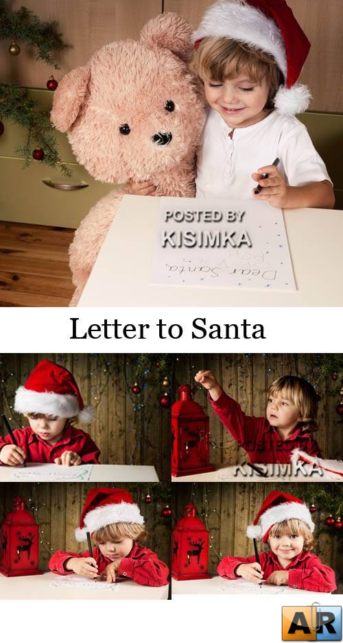Stock Photo: Letter to Santa