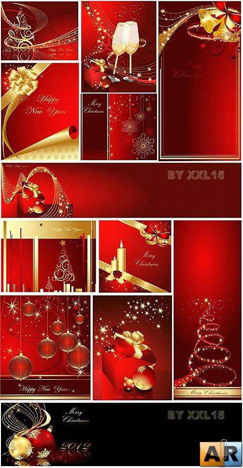 Red and gold christmas backgrounds