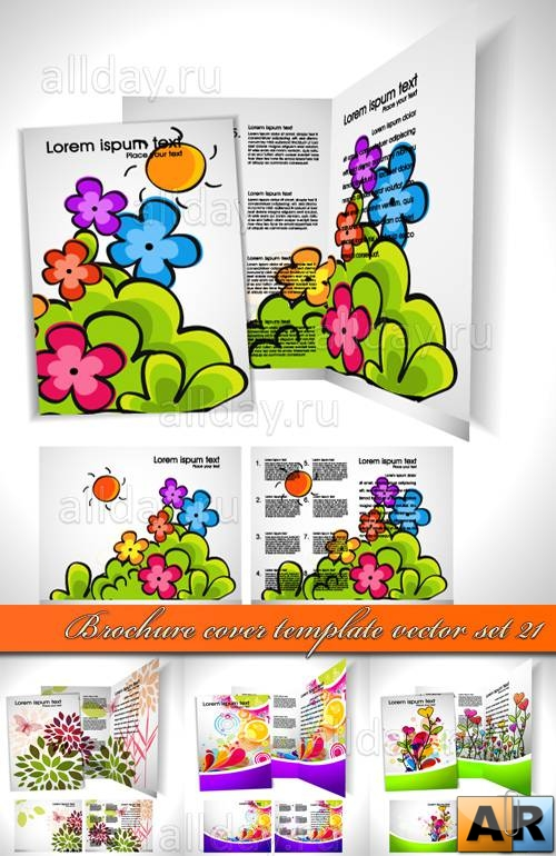 ������� ������� 21 | Brochure cover template vector set 21