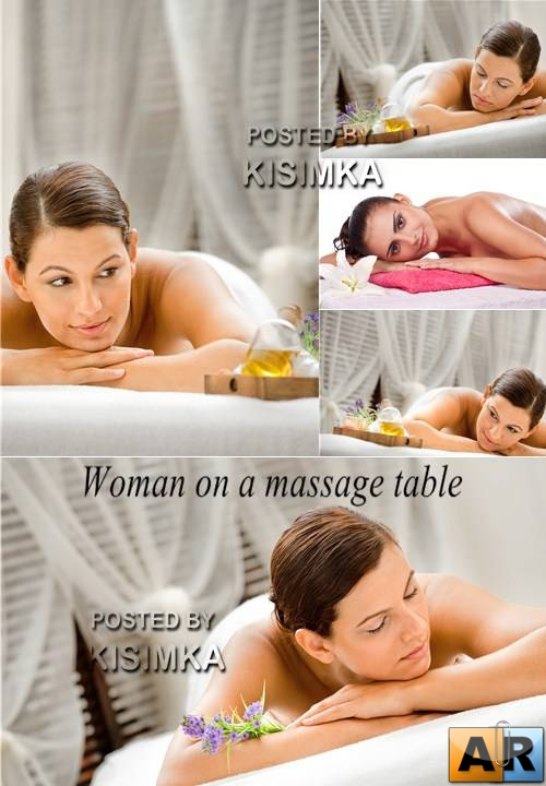 Stock Photo: Woman on a massage table