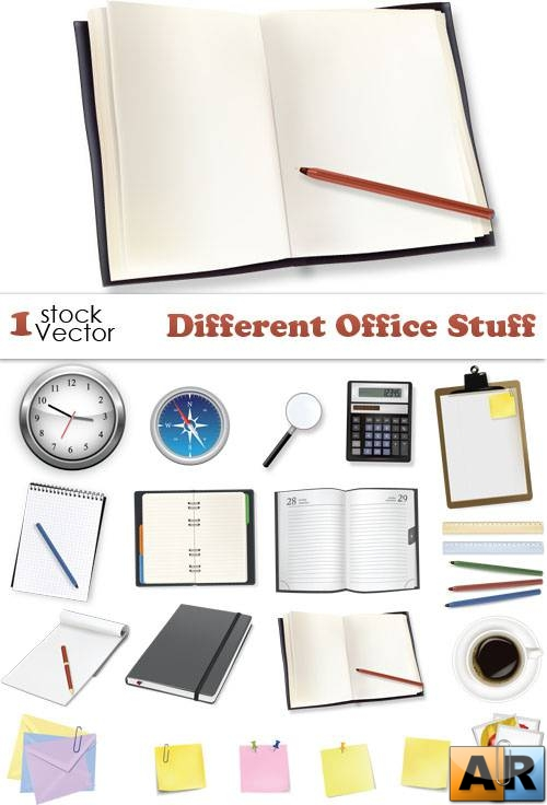 Different Office Stuff Vector