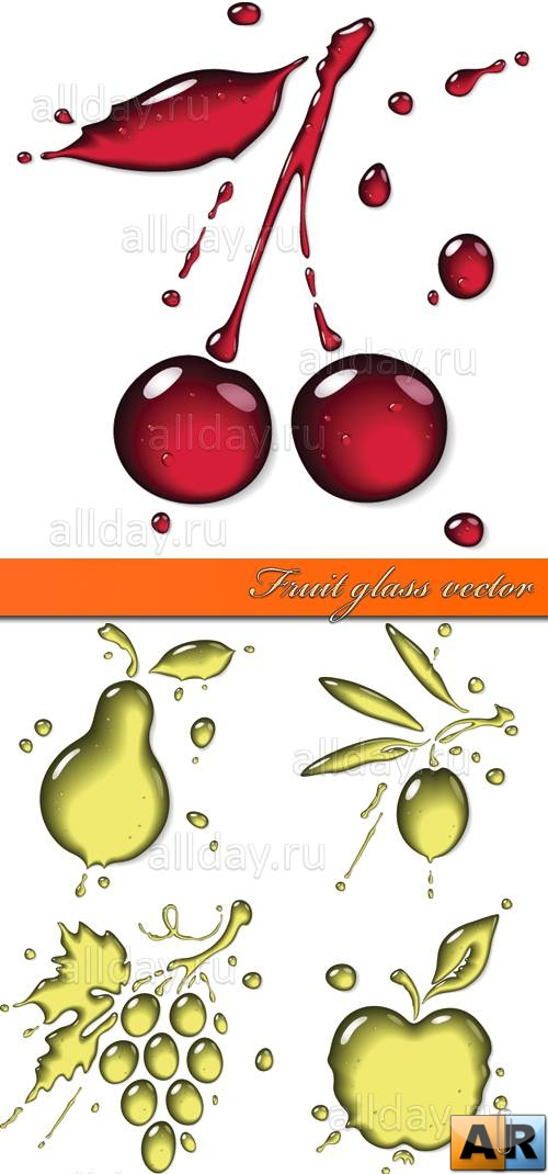 Fruit glass vector 2