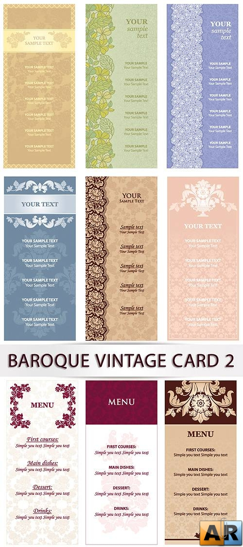 Vector clipart - Baroque vintage card 2