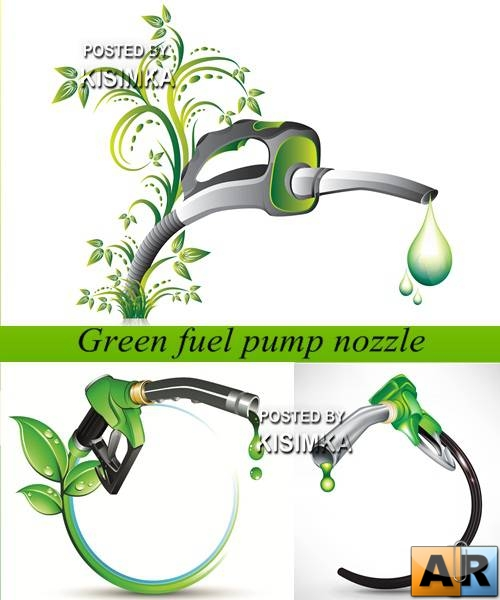Stock: Green fuel pump nozzle