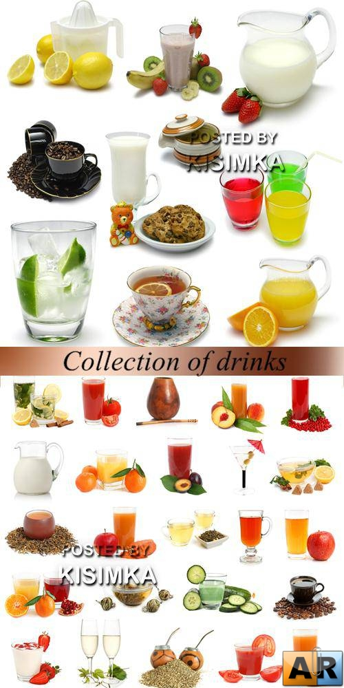 Stock Photo: Collection of drinks
