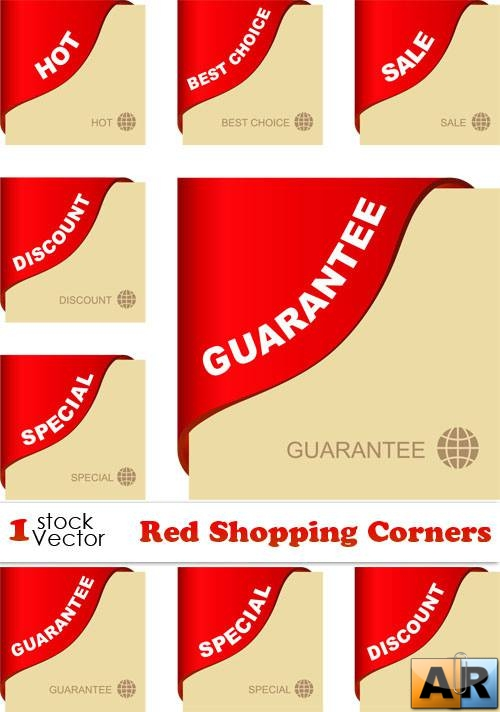Red Shopping Corners Vector