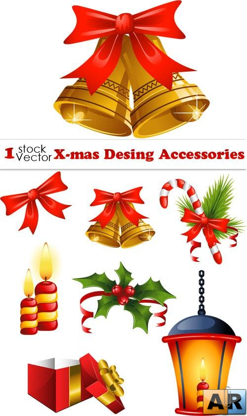 X-mas Desing Accessories Vector