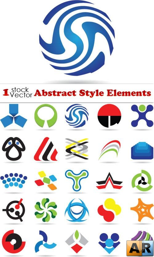 Abstract Style Elements Vector