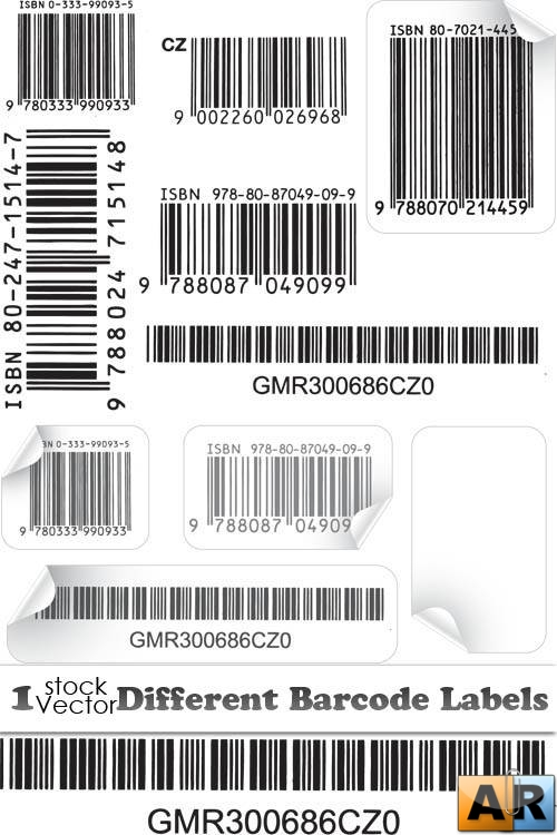 Different Barcode Labels Vector