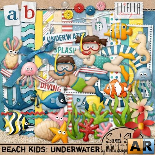 Скрап-набор - Beach Kids: Underwater