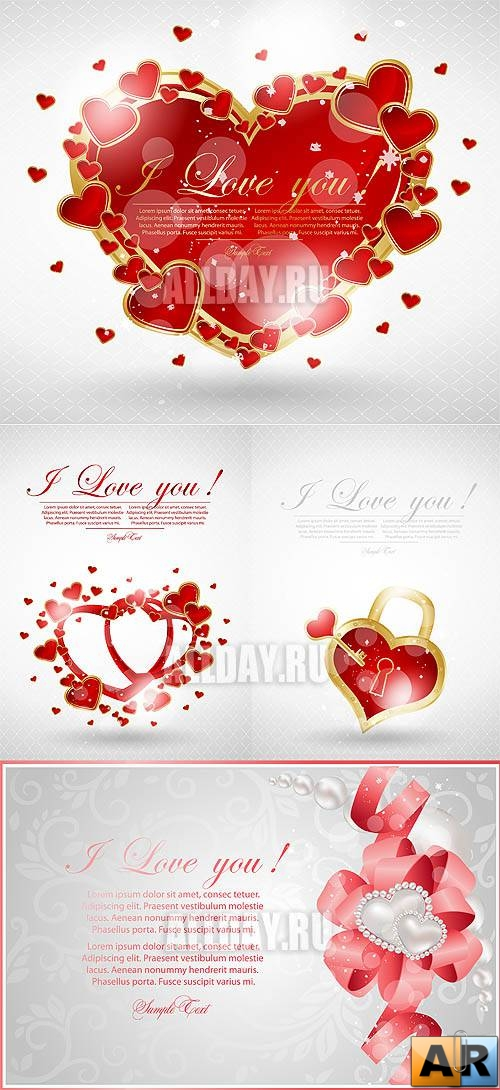 Valentine heart cards