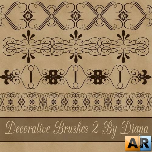 Decorative Brushes 2 by Diana Creations  Декоративные кисти