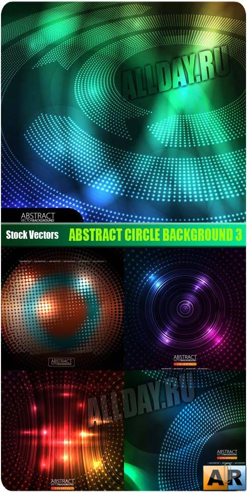 ����������� ��� � ������� 3 | Abstract circle background 3