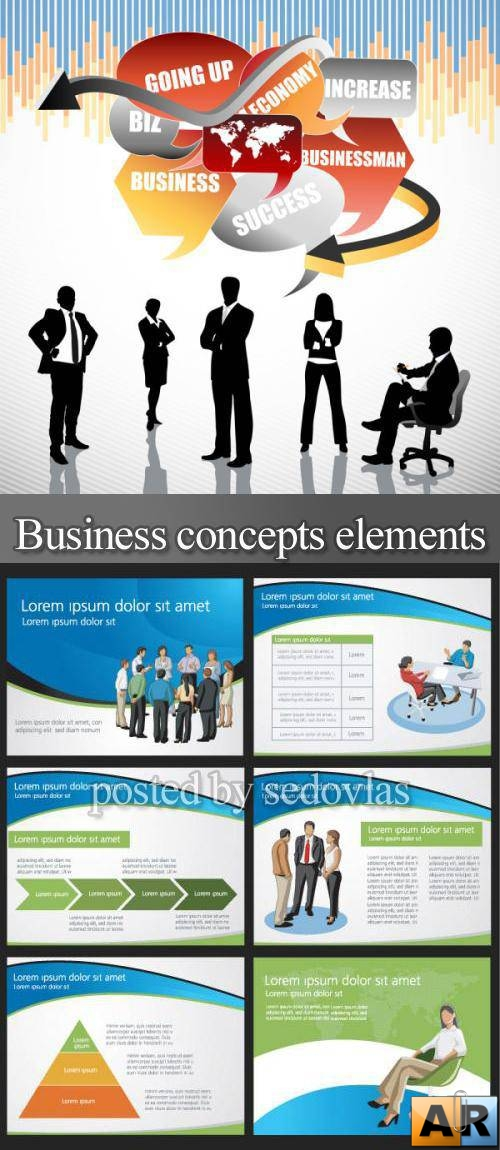 Business concepts elements - vector