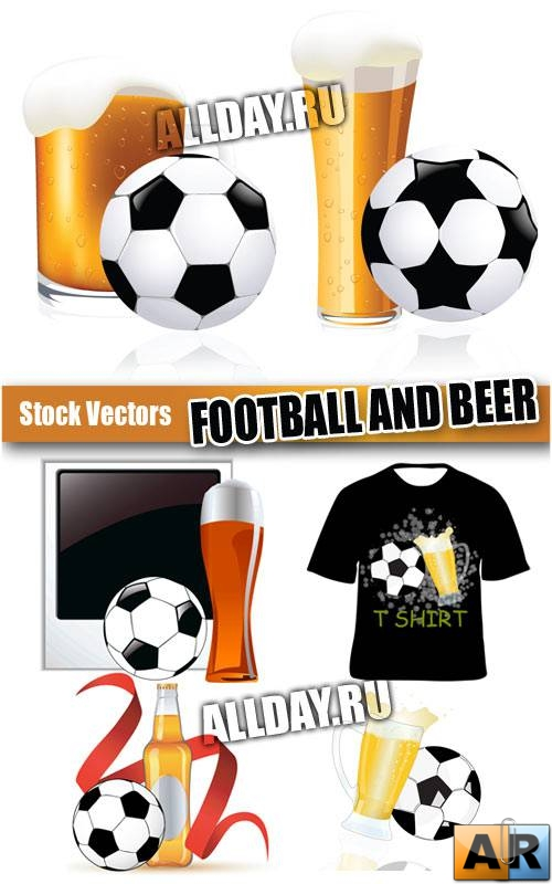 Футбол и Пиво в векторе | Football and beer - Stock Vectors