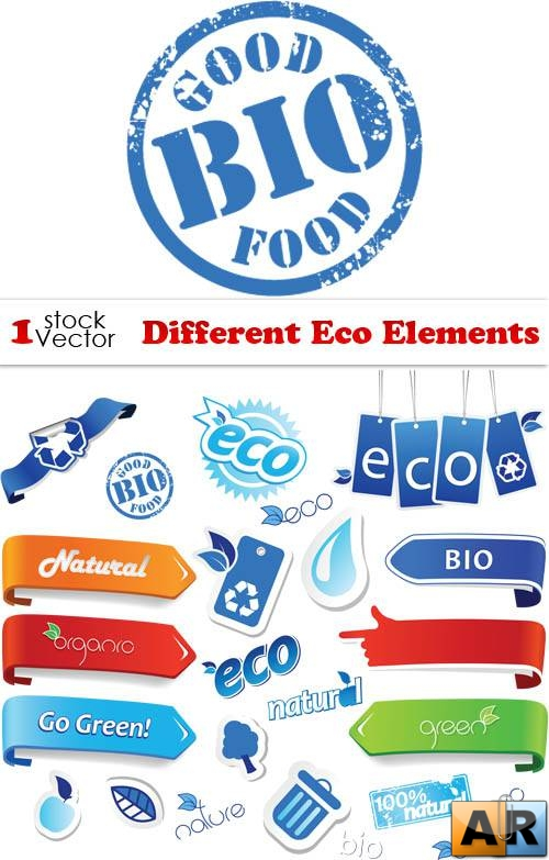 Different Eco Elements Vector