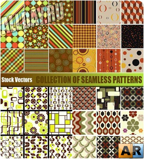 ��������� ��������� ��������� | Collection of seamless patterns