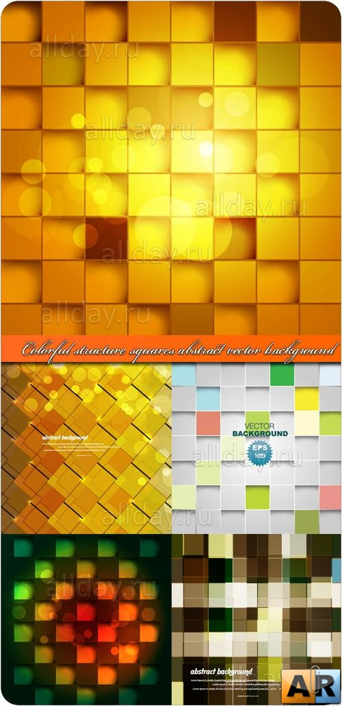 Фоны с квадратами | Colorful structure squares abstract vector background