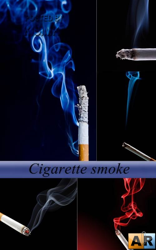 Stock Photo: Cigarette smoke