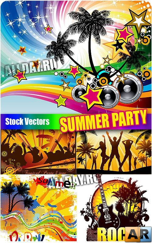 ������ ��������� - ��������� ������� | Summer party - Stock Vectors