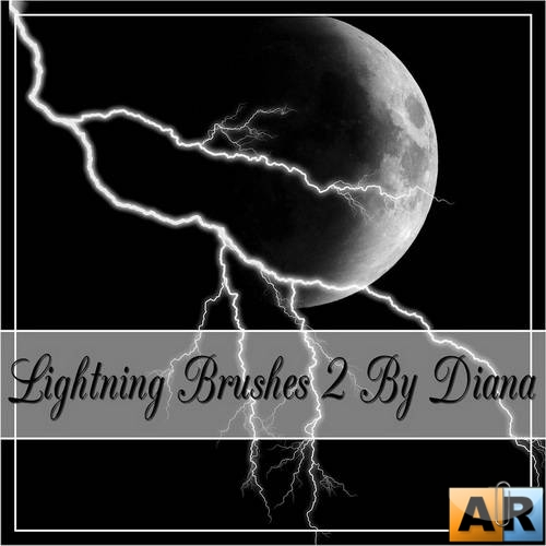 Realistic Lightning Brushes by Diana Creations  Молнии - Кисти