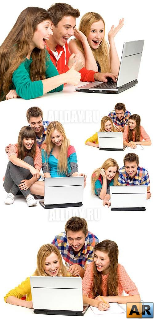 Young people & laptop