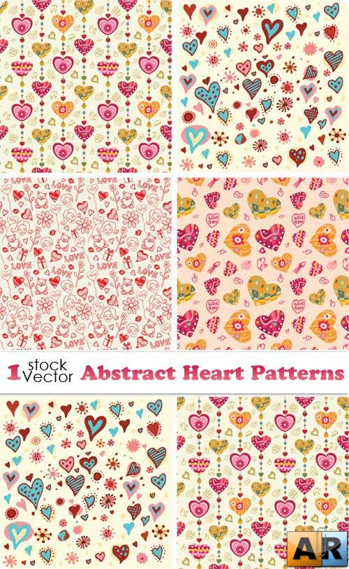 Abstract Heart Patterns Vector