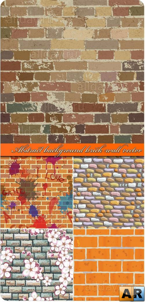 Кирпичная стена | Abstract background brick wall vector