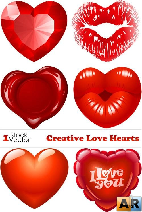 Creative Love Hearts Vector