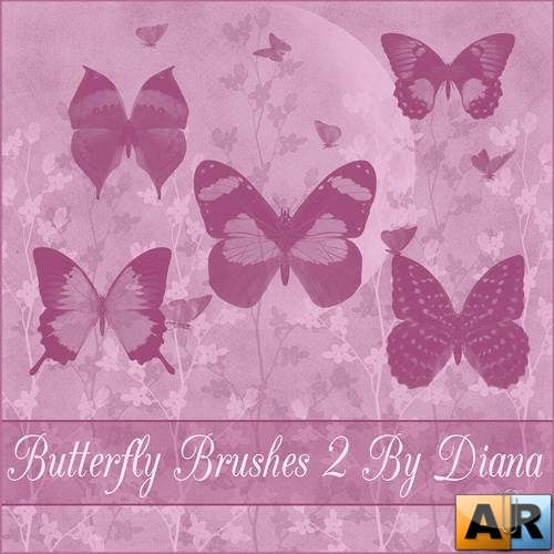 Butterfly Brushes  by Diana Creations