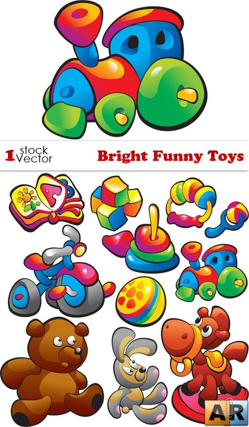 Bright Funny Toys Vector