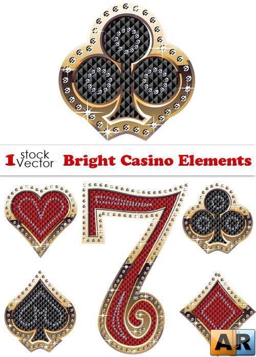 Bright Casino Elements Vector