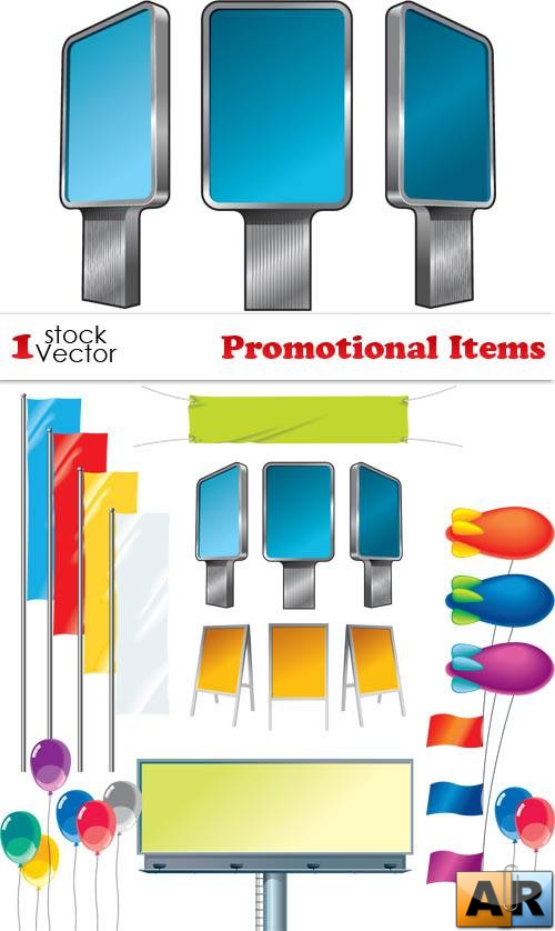 Promotional Items Vector