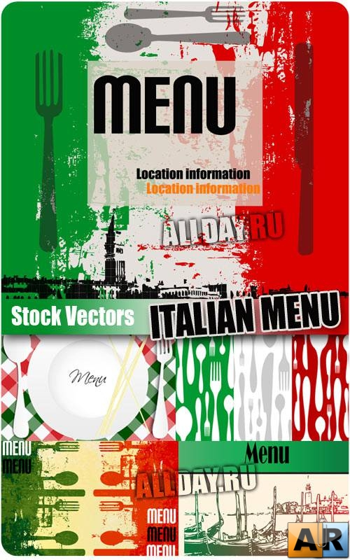 ����������� ���� � ������� | Italian Menu - Stock Vectors