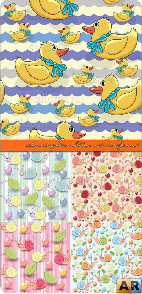 Бесшовные детские фоны | Seamless pattern children vector background