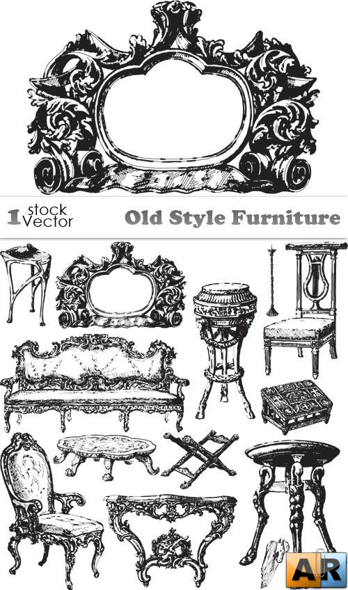 Old Style Furniture Vector