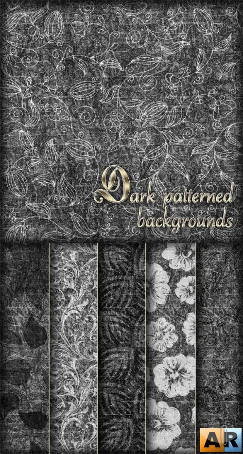 Dark patterned backgrounds