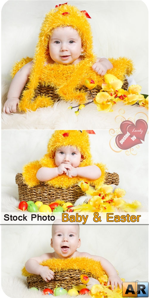 Stock Photo - Baby & Easter