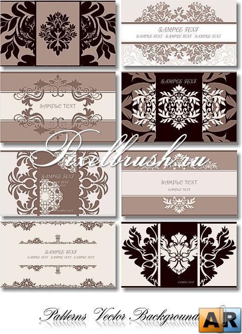 Patterns Vector Backgrounds - Cards