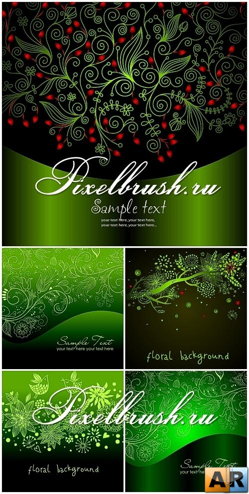 Green Patterns Vector Backgrounds