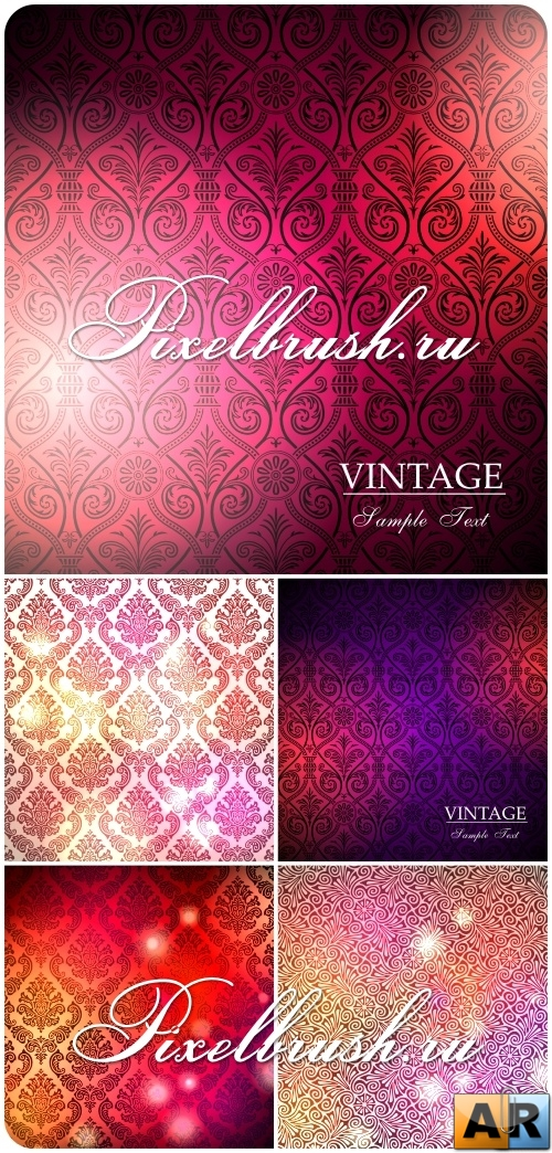 Bright Patterns Vector Backgrounds