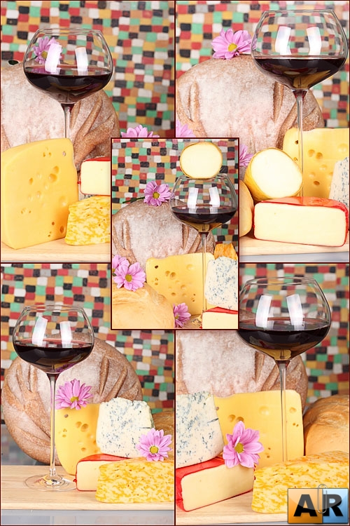 Photostock - Cheese, wine, bread 2