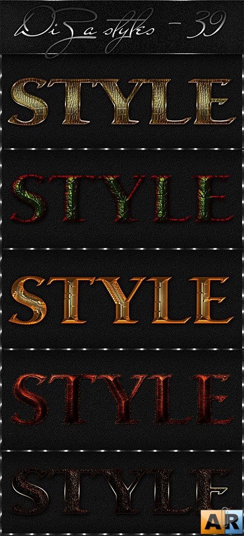 Text styles by DiZa - 39