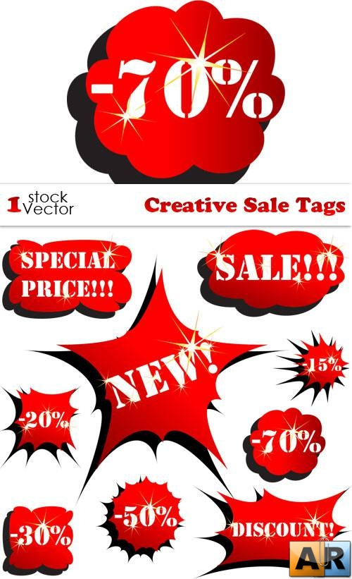 Creative Sale Tags Vector