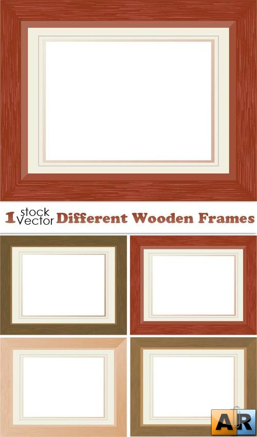 Different Wooden Frames Vector